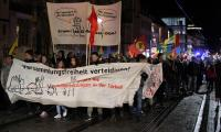Demonstration in der Kaiserstraße Heilbronn